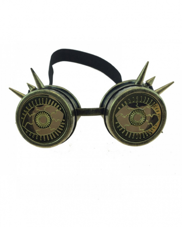 Steampunk Welding Goggles With Spikes