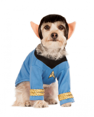 Spock Hundekostüm mit Perücke Star Trek