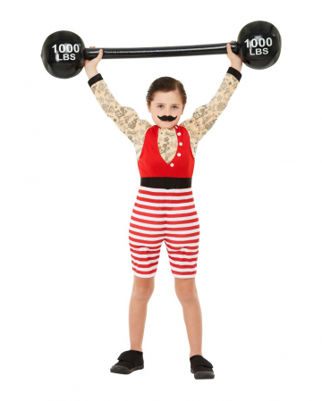 Strong August Vintage Deluxe Kids Muscle Costume