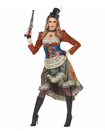 Steampunk Costume Dress With Mini Hat
