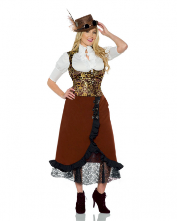 Steampunk Kostümweste mit Zahnrad Motiv