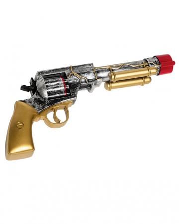 Goldener Steampunk Revolver