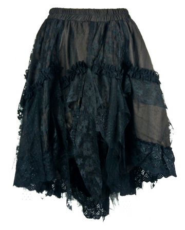 Victorian Lace Skirt Brown
