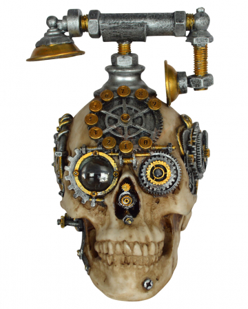 Steampunk Skull With Phone