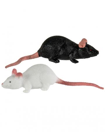 Stretch Rat 11cm - Black / White