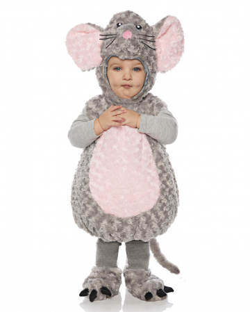 Maus Kleinkinderkostüm grau