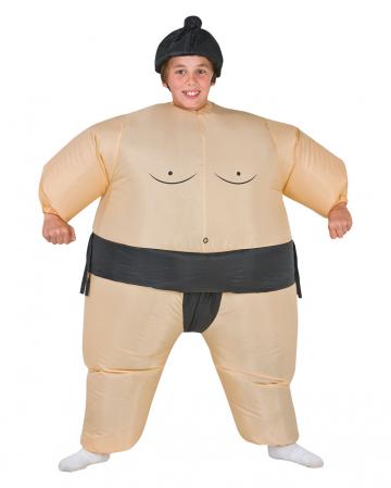 Sumoringer Kostüm für Kinder Aufblasbar
