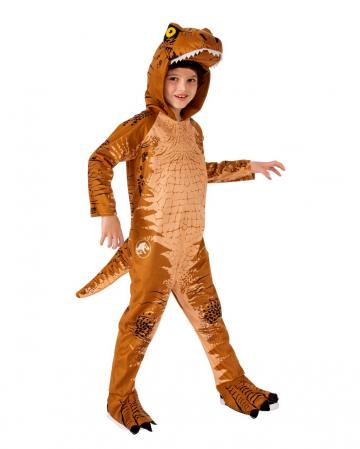 T-Rex Kinderkostüm mit Haube Braun