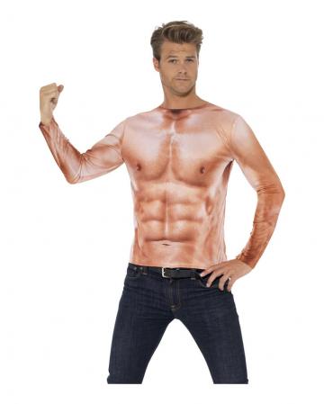 Realistisches Muskel Longsleeve