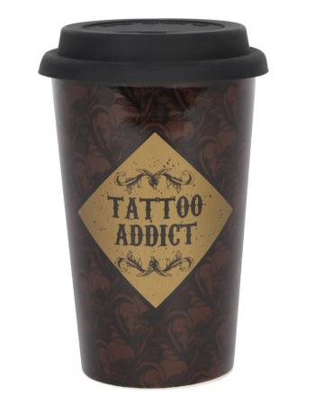 Tattoo Addict Kaffebecher mit Deckel