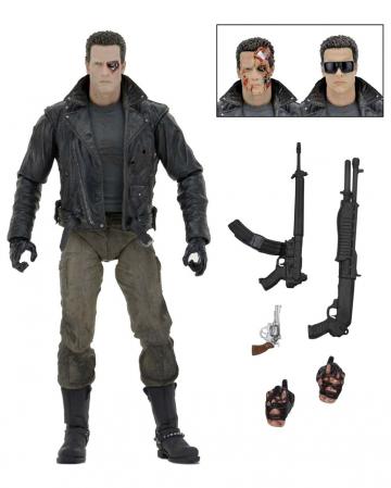 Terminator Action Figure Ultimate Police Station Assault T-800 NECA