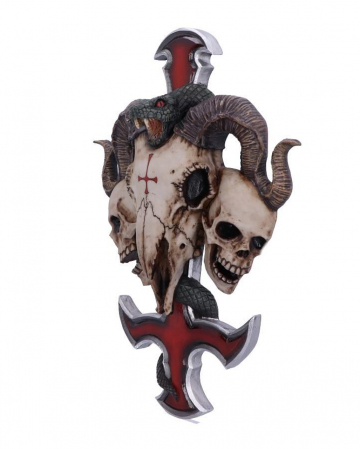 Teufelskreuz mit Totenschädel & Schlange