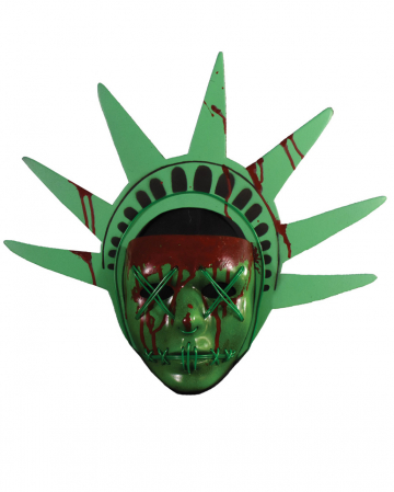 The Purge Lady Liberty Mask With Light Effect