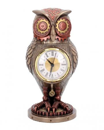 Tick Toot Eule Steampunk Uhr 27cm