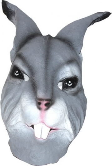 Kaninchen Maske grau