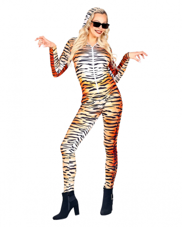 Tiger Bodysuit With Animal Print