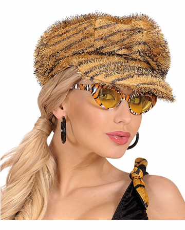 Retro Mütze mit Tigermuster