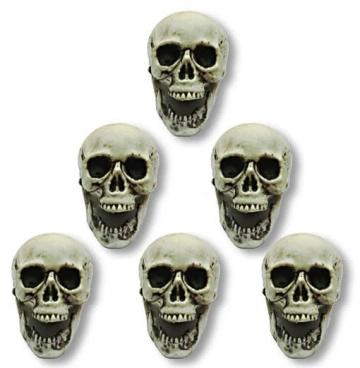 Skulls 6 pieces