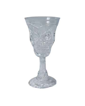 Clear Plastic Skull Cup 18 Cm