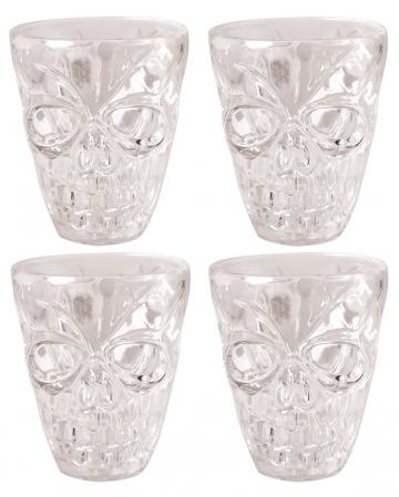 4er Pack Totenschädel Schnapsglas