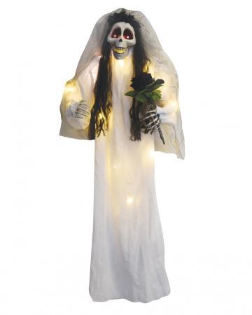 Totenkopf Braut mit Bouquet