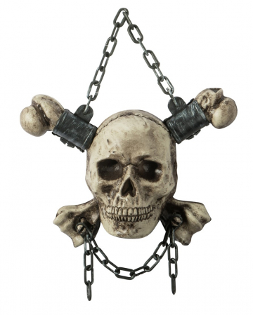 Skull With Bone As Hanging Decoration