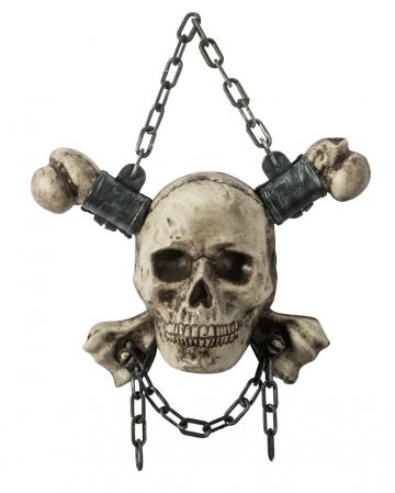 Totenkopf mit Knochen zum Aufhängen