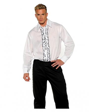 Kostüm Hemd Tuxedo weiß