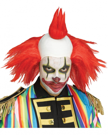 Twisted Horror-Clown Perücke rot