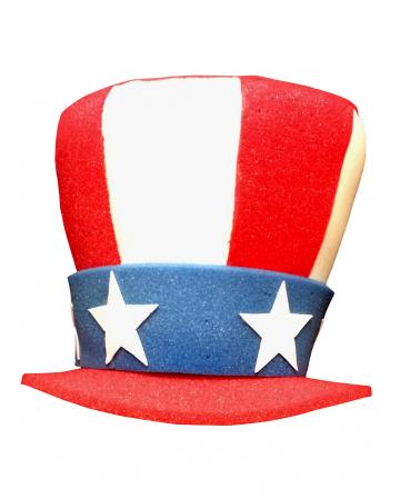Uncle Sam Hut aus Schaumstoff