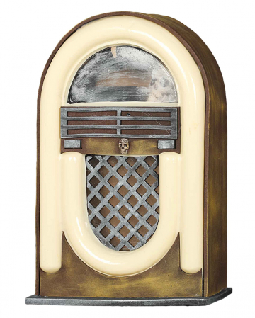 Creepy Radio Jukebox With Light & Sound