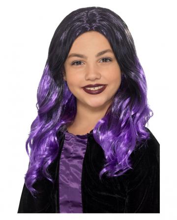 Vampire Kids Wig Black-purple