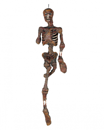 Hängefigur verbranntes Skelett mit Licht 100cm
