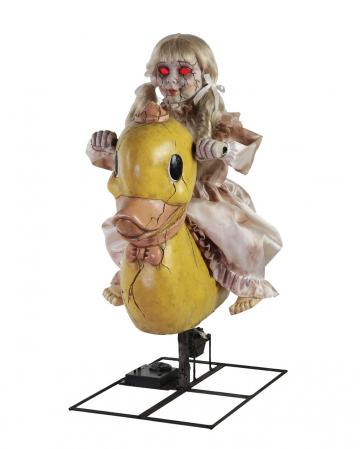 Verfluchte Puppe auf Schaukelpferd Animatronic