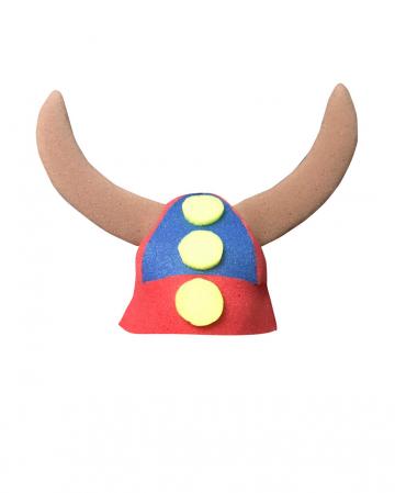Viking Helmet With Braids Of Foam