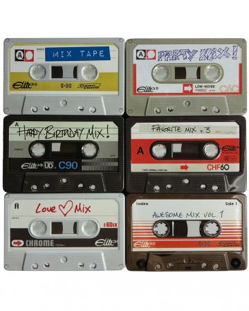 Vintage Tin Box Cassette 1 Pc.