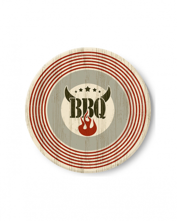 Barbecue Grill Party Paper Plate 10 Pieces