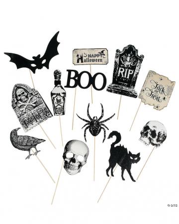 Antike Halloween Photo Sticks 12 St.
