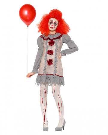 Vintage Horror Clown Ladies Costume