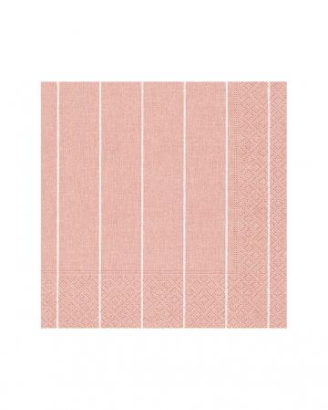 Pinstripe Napkins Rose 20 Pieces