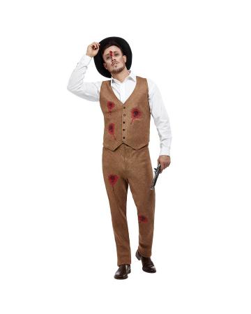 Zombie Gangster Clyde Herren Kostüm