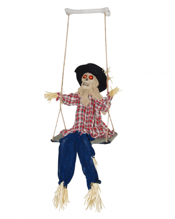 Scarecrows on swing with sound & light
