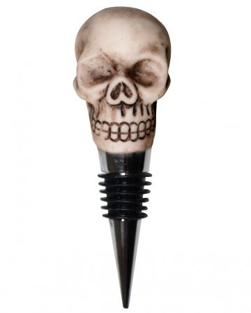Weinflaschenverschluss mit Totenschädel