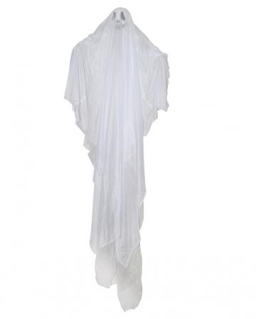 Weißer Geist Hängefigur für Halloween 180 cm