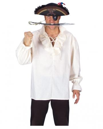 Piratenhemd mit Rüschenkragen