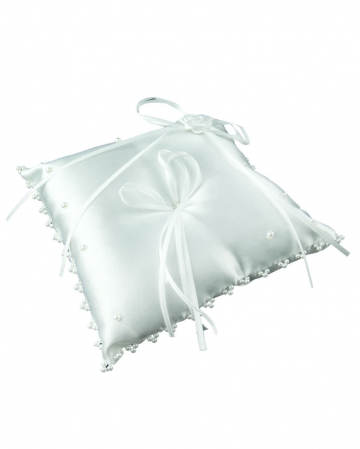 Ring pillow White with pearls