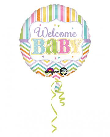 Folienballon Welcome Baby 43cm