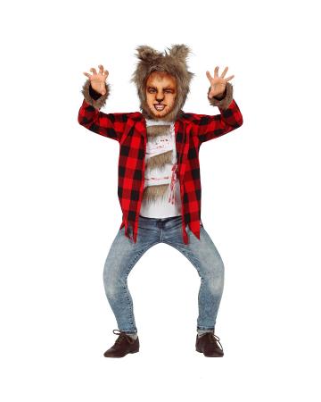 Werewolf Children Costume With Fur Cap