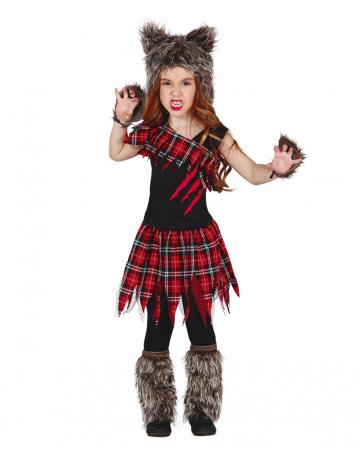 Schottisches Wolf Girl Mädchenkostüm