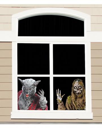 Fensterfolie Werwolf und Skelett 60cm